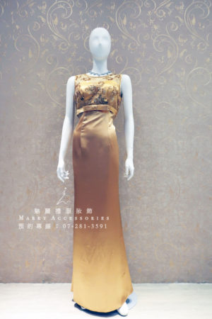 KO-0005系列貴氣繡花禮服-媽媽禮服-晚宴禮服-新娘晚禮服