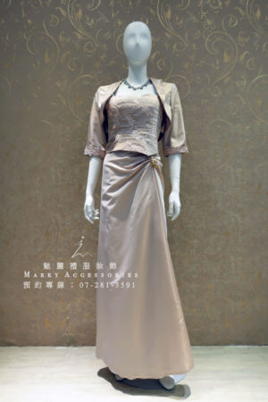 KO-0006系列啞光面料柔美媽媽禮服-晚宴禮服-新娘晚禮服
