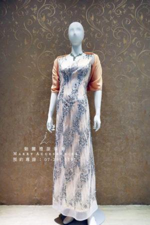 KO-0012系列銀粉亮片修身媽媽禮服-晚宴禮服-新娘晚禮服