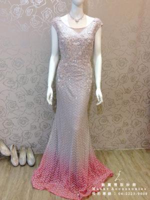 O108-18超美漸層粉色魚尾禮服媽媽禮服-晚宴禮服-新娘晚禮服