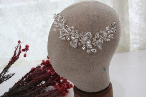 ZR55高貴豔放白鑽新娘飾品/宴會頭飾