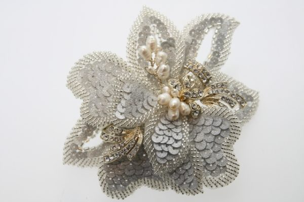 ZR6亮片造型珍珠花片頭飾/宴會頭飾