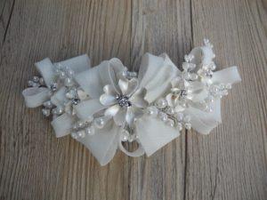 ZR8-2819精美细緻花朵造型蝴蝶結髮飾/婚禮髮飾