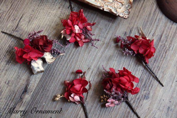 F829粉紫復古灰唯美新娘頭飾