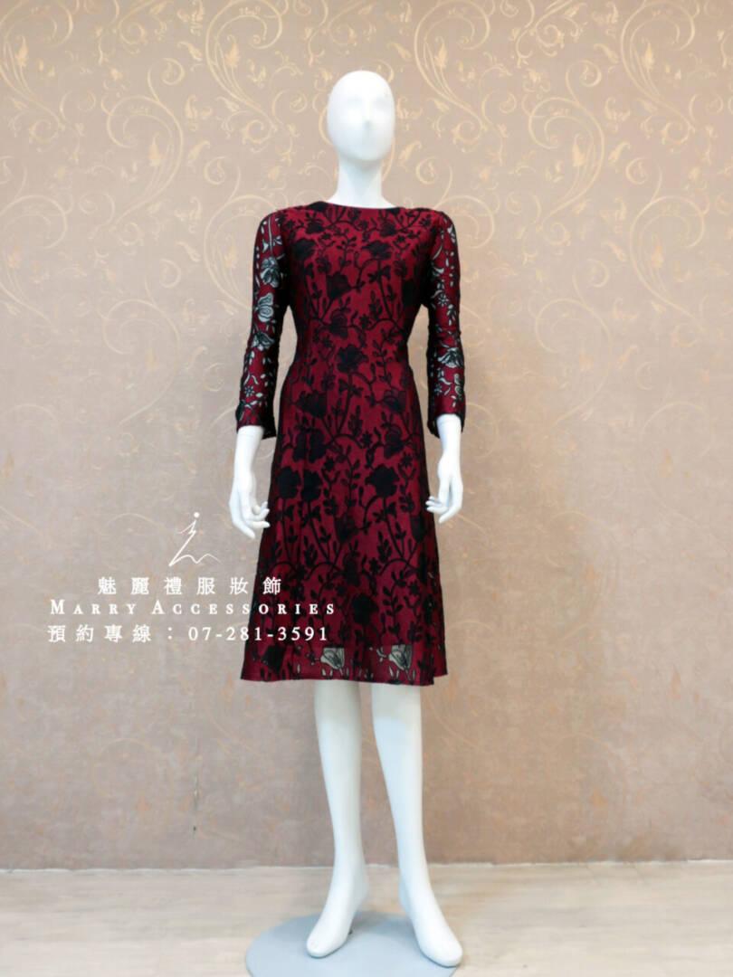 KO-0167系列高雅簍空雕花短禮服媽媽禮服-晚宴禮服-新娘晚禮服