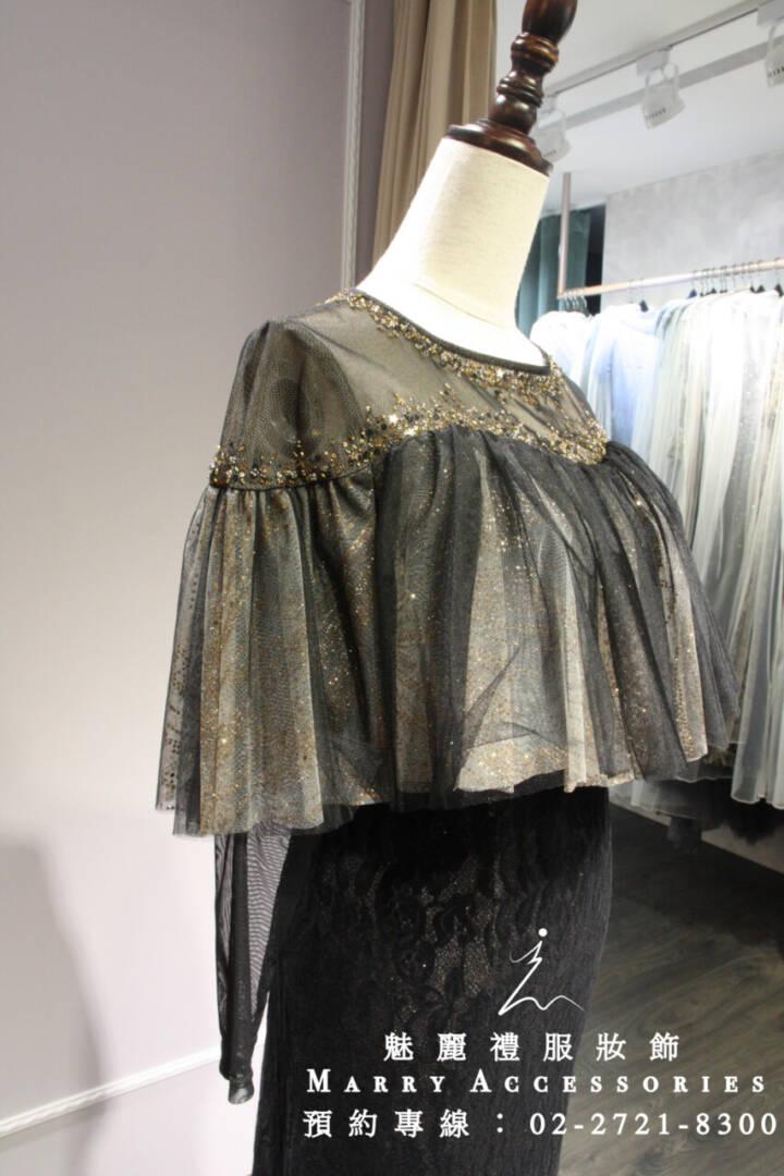 M11系列顯瘦包肩深色貼身禮服-媽媽禮服-晚宴禮服-新娘晚禮服