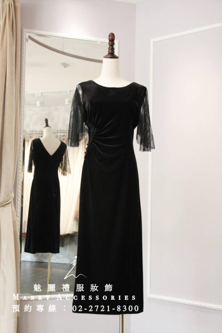 M117系列精緻蕾絲袖修身禮服-媽媽禮服-晚宴禮服-新娘晚禮服