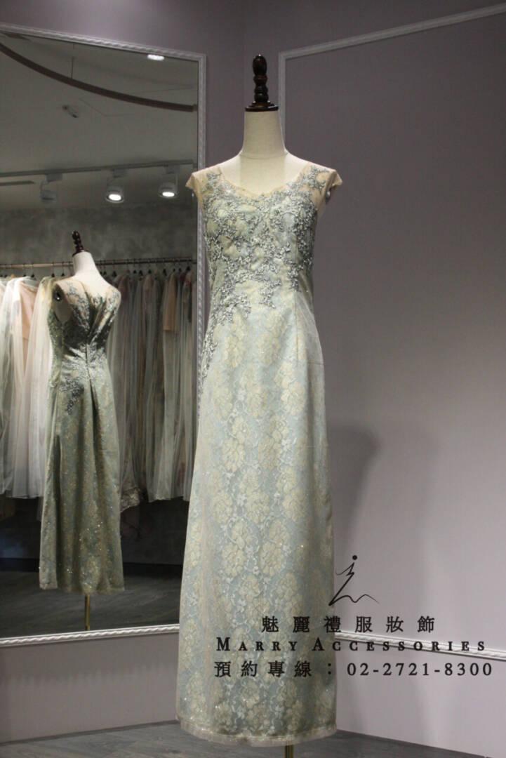 M130系列蒂芬妮綠高貴氣質禮服-媽媽禮服-晚宴禮服-新娘晚禮服