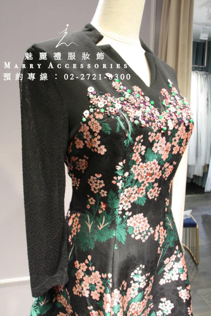 M20系列超美V領修身長袖短款禮服-媽媽禮服-晚宴禮服-新娘晚禮服