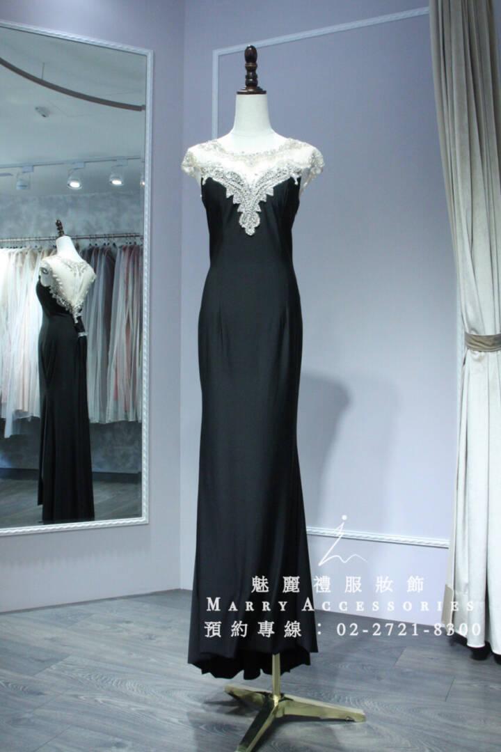M24系列復古風情小性感深色禮服-媽媽禮服-晚宴禮服-新娘晚禮服