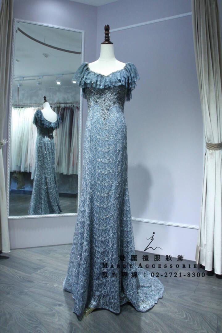 M26復古華貴宴會風格超美禮服-媽媽禮服-晚宴禮服-新娘晚禮服