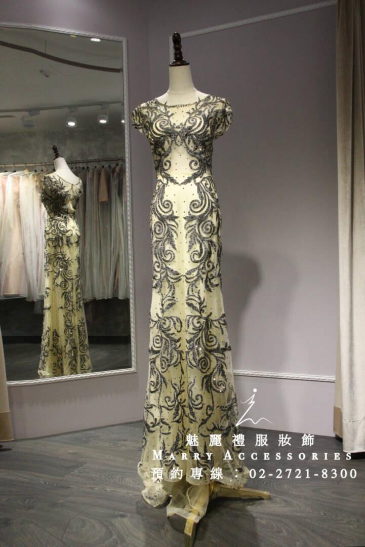 M29系列溫柔線條圖騰露空禮服-媽媽禮服-晚宴禮服-新娘晚禮服