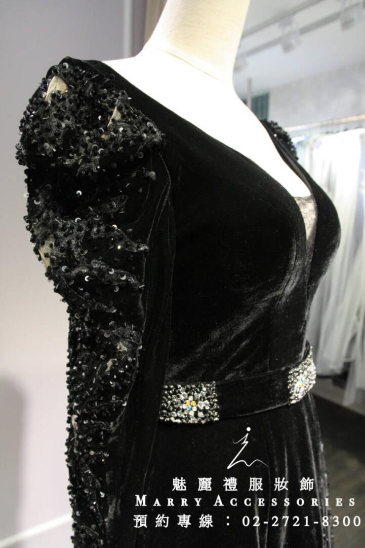 M31系列歌德風深色公主長袖禮服-媽媽禮服-晚宴禮服-新娘晚禮服