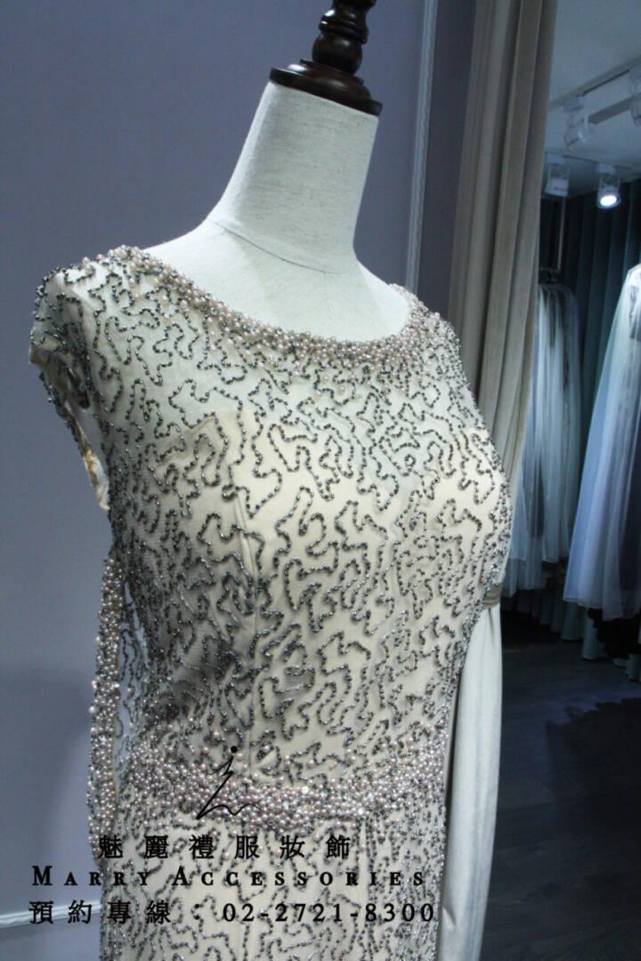 M39系列現代風心型領高貴亮片禮服-媽媽禮服-晚宴禮服-新娘晚禮服
