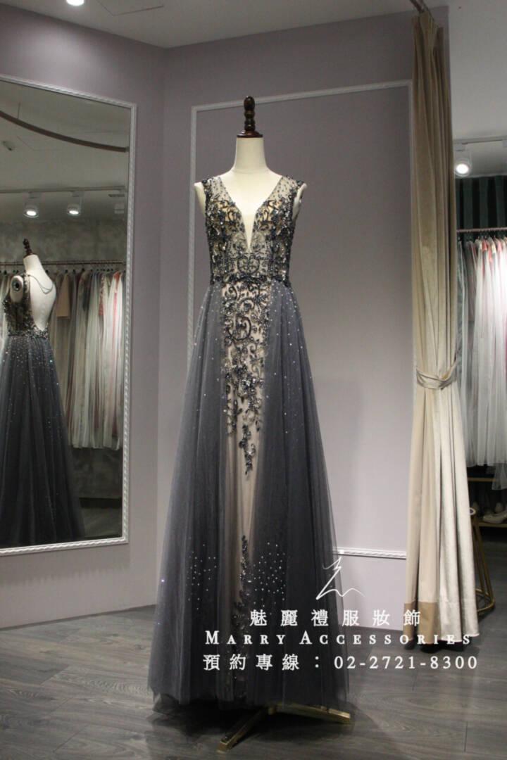 M42系列深V魚尾雙側多層次紗禮服-媽媽禮服-晚宴禮服-新娘晚禮服