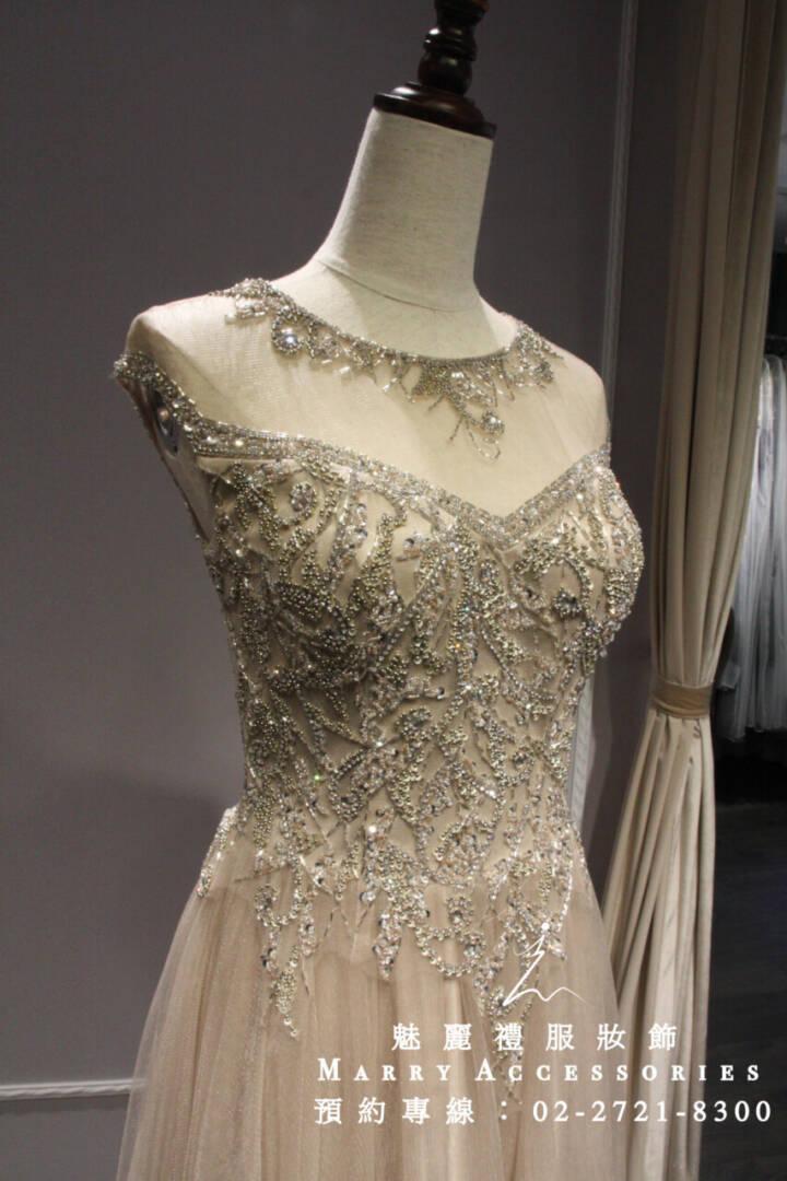 M65貴氣典雅華美公主風禮服-媽媽禮服-晚宴禮服-新娘晚禮服