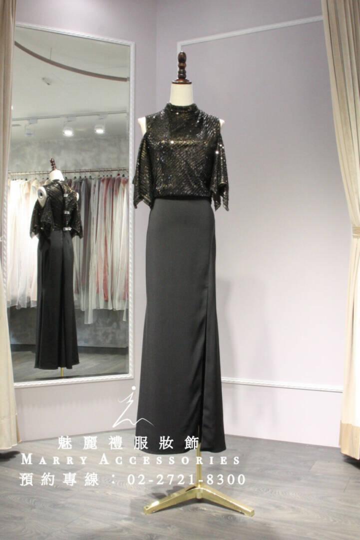M83系列露肩垂袖設計超修身現代時尚禮服-媽媽禮服-晚宴禮服-新娘晚禮服