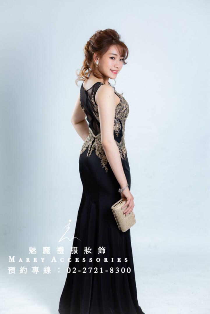 M85系列胸口刺繡修身剪裁貴氣時尚風禮服-媽媽禮服-晚宴禮服-新娘晚禮服