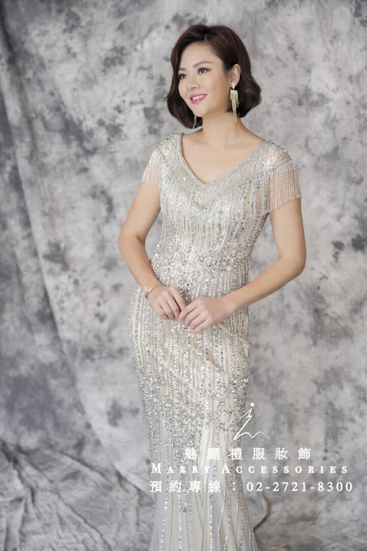M68系列超美流蘇顯身材貴氣貼身禮服-媽媽禮服-晚宴禮服-新娘晚禮服